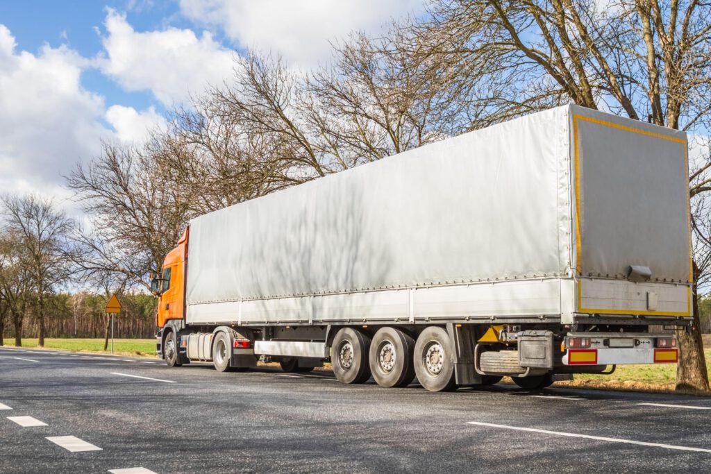 ten wheeler van truck on the roadside